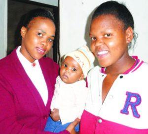 Nelisiwe and her baby with Lt Zama